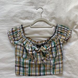 forever 21 plaid crop top